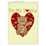 Valentine Be My Honey T-shirts and Gifts Greeting Cards