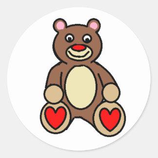 Valentine Bear Classic Round Sticker
