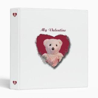 Valentine Bear Heart Binder