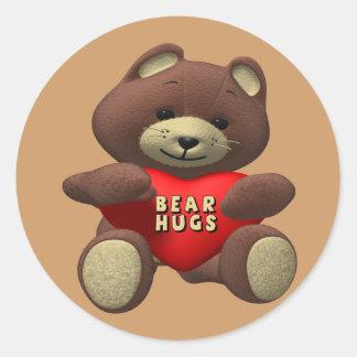 Valentine Bear Hugs Sticker