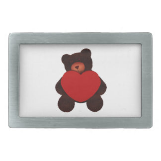 Valentine Bear Rectangular Belt Buckle