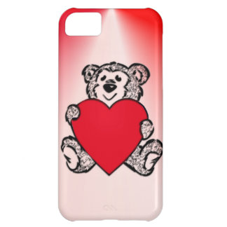Valentine Bear with Heart iPhone 5C Covers