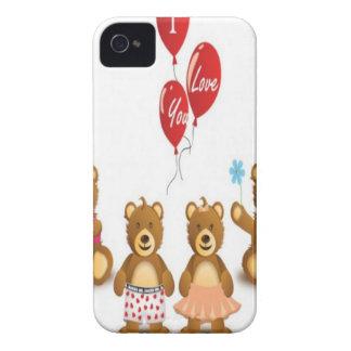 Valentine bears design iPhone 4 cover
