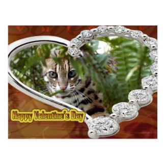 Valentine Bengal Cat Postcards