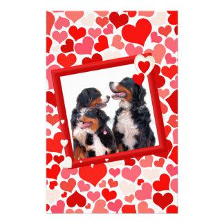 Valentine Bernese Mountain dog Heart Stationery