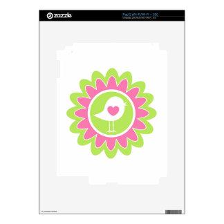 Valentine Bird Flower Heart Decals For iPad 2