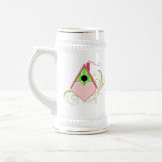 Valentine Birdhouse Ceramic Stein