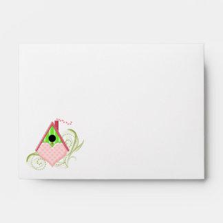 Valentine Birdhouse Custom Envelope