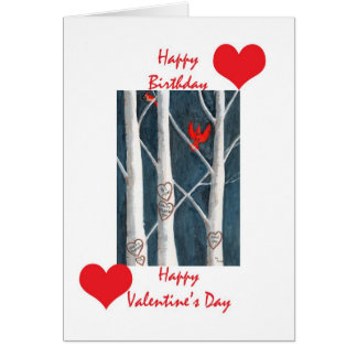 Valentine birthday cards