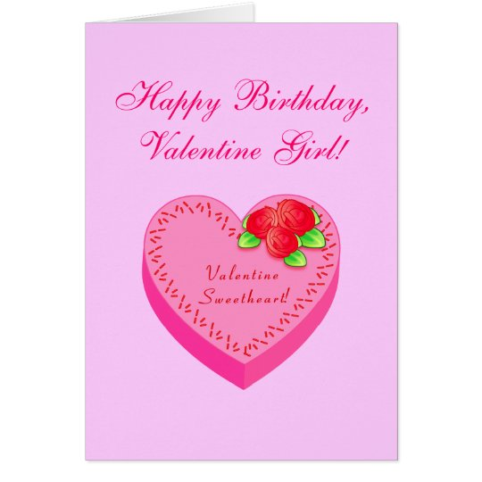 Valentine Birthday: Father, Mother To Daughter Card