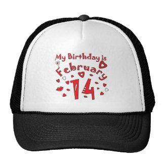 Valentine Birthday February 14th Trucker Hat
