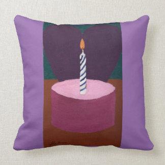 Valentine Birthday Pillow by Julia Hanna