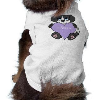 Valentine Black Dog - Blaze & Light Purple Heart Shirt