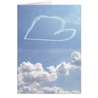 Valentine blank inside - Heart in the Sky Card