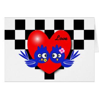 Valentine blue bird card