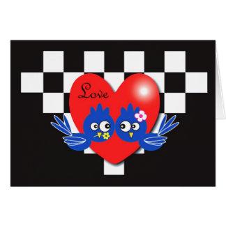 Valentine blue birds card