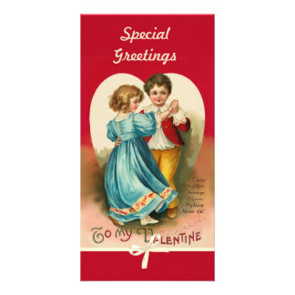Valentine Boy and Girl Dancing Card