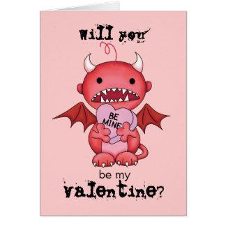 Valentine Boy Devil Card