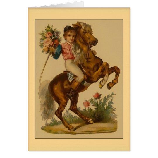 Valentine-Boy on Horse Card