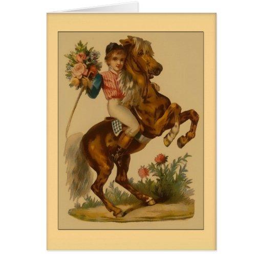 Valentine-Boy on Horse Greeting Cards