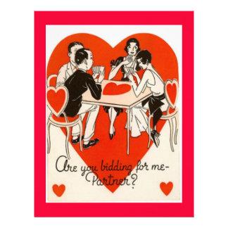 Valentine Bridge Game Customizable Letterhead