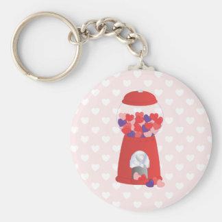 Valentine Bubblegum Basic Round Button Keychain