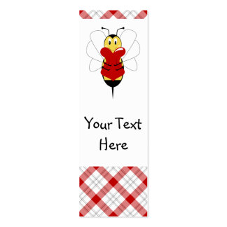 Valentine Bumble Bee Bookmark Mini Business Card