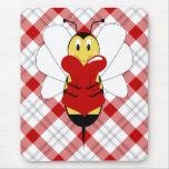Valentine Bumble Bee Mousepad
