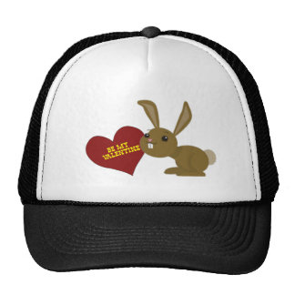 valentine bunny trucker hat
