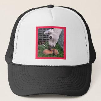 Valentine Bunny LLama Love I Love You Trucker Hat