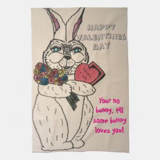 VALENTINE BUNNY towel