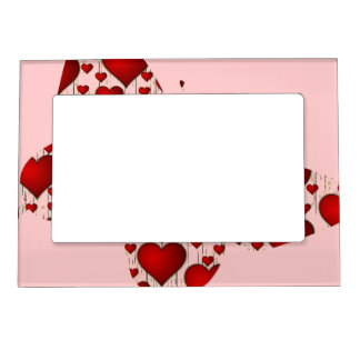 Valentine Butterfly Love Picture Frame Magnet