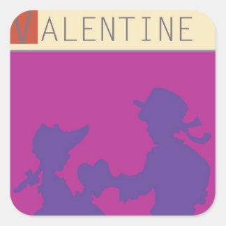 <Valentine> by Steve Collier Square Sticker