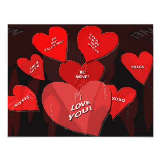 Valentine Candy 4.25x5.5 Paper Invitation Card