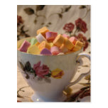 Valentine Candy and Rose Teacup Postcards