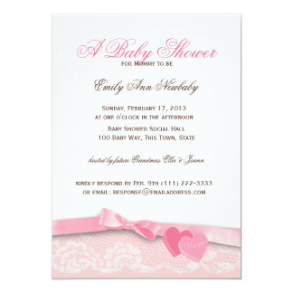 Valentine Candy Baby Shower Card
