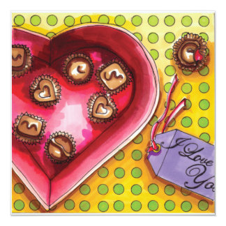 Valentine Candy box Card
