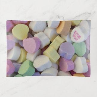 """valentine candy"" Glass TRINKET TRAY"
