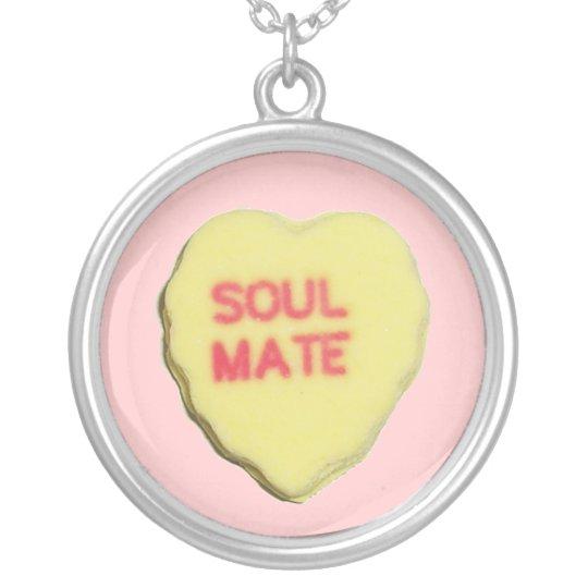 Valentine Candy Heart Silver Plated Necklace