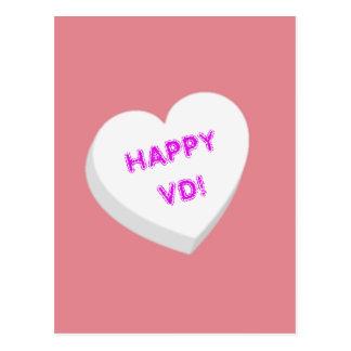 Valentine Candy Heart - White Postcard