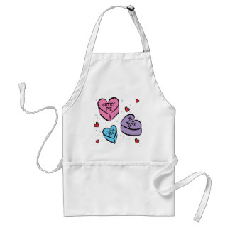 VALENTINE CANDY HEARTS ADULT APRON