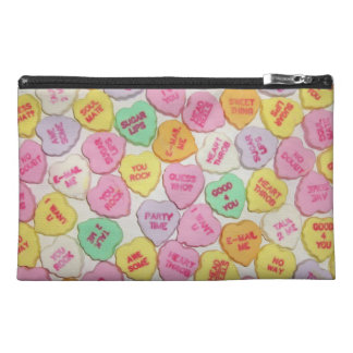 Valentine Candy Hearts Travel Accessory Bags