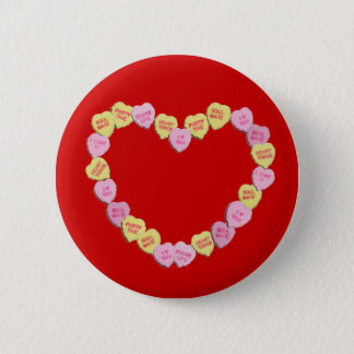 Valentine Candy Hearts Heart Button