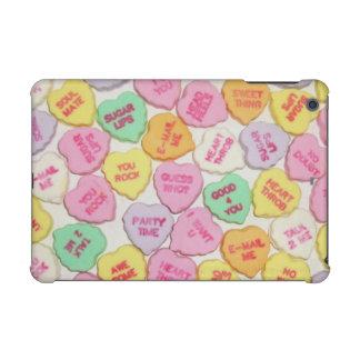 Valentine Candy Hearts iPad Mini Cases