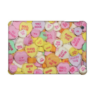 Valentine Candy Hearts iPad Mini Covers