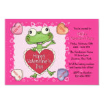 Valentine Candy Hearts Kid's Valentine Party 3.5x5 Paper Invitation Card