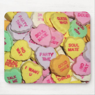 Valentine Candy Hearts Mouse Pad
