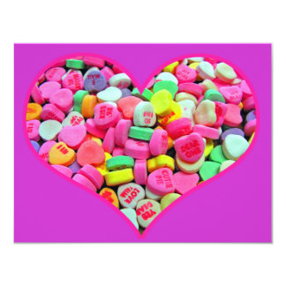 Valentine Candy Hearts Party Invitation