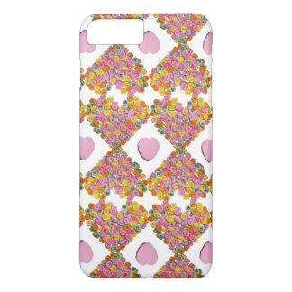 Valentine Candy Hearts Pattern iPhone 8 Plus/7 Plus Case