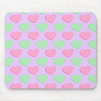 Valentine Candy Hearts Pattern Mouse Pad